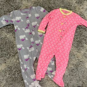 Other - 9 month footed pajamas - set of 2